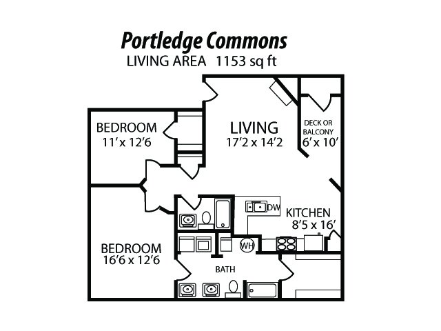 2 Bed 2 Bath Apartment In Lafayette In Portledge
