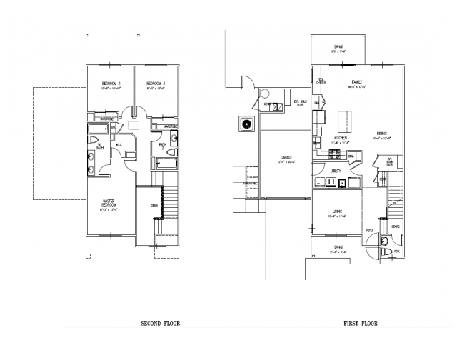 3-bedroom newly built home, 2.5 baths, central air, one car garage