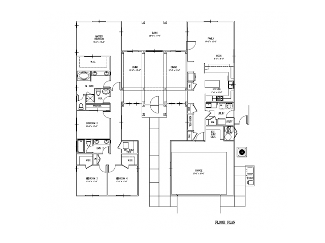 4-bedrooom new SO home, single level, large open floor plan at 2428 sq ft