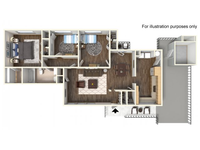Fort Hood Family Housing Two Three Four Five Bedroom Floor Plan