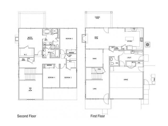 4 bed 2 5 bath apartment in colorado springs co for Castle rock floor plans