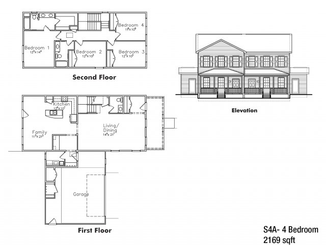 Four bedroom SNCO floor plan | fort drum housing