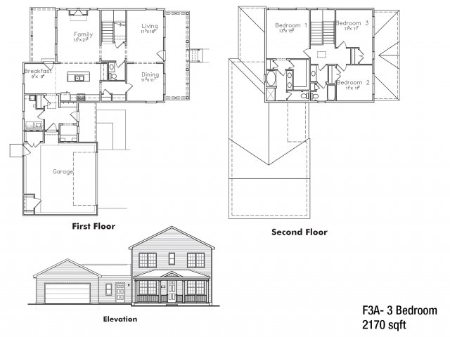 Three BDRM Field Grade Floor Plan | On Post Housing Fort Drum