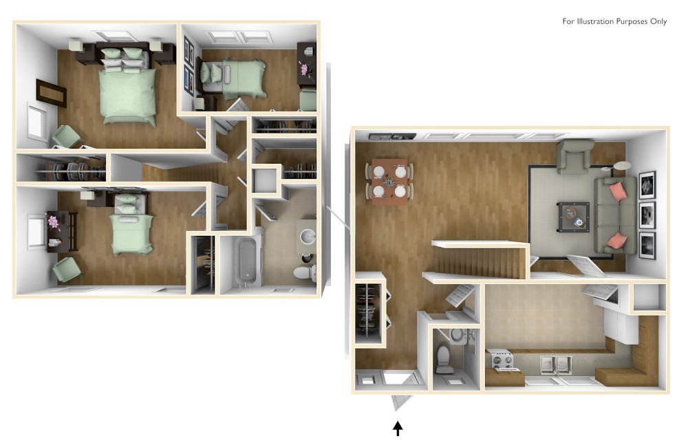 Grant 3D Floor Plan