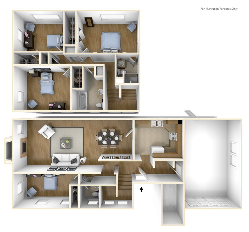 Westover Housing Washington 3D Floor Plan