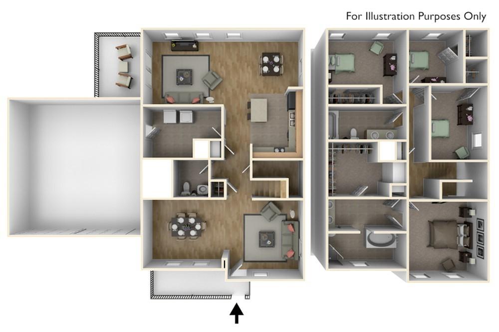 Stewart Terrace Dunlap 3D Floor Plan