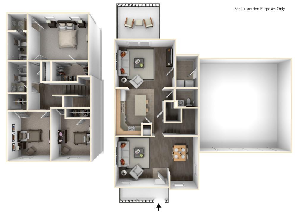 Stewart Terrace Murphy 3D Floor Plan