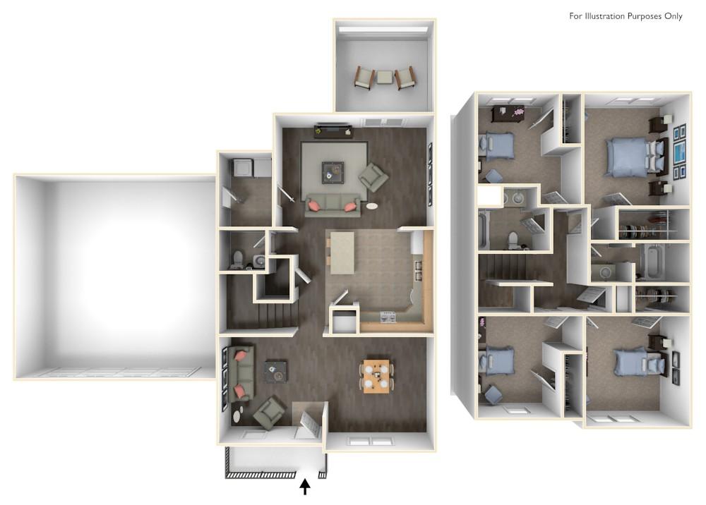 Stewart Terrace Paige 3D Floor Plan