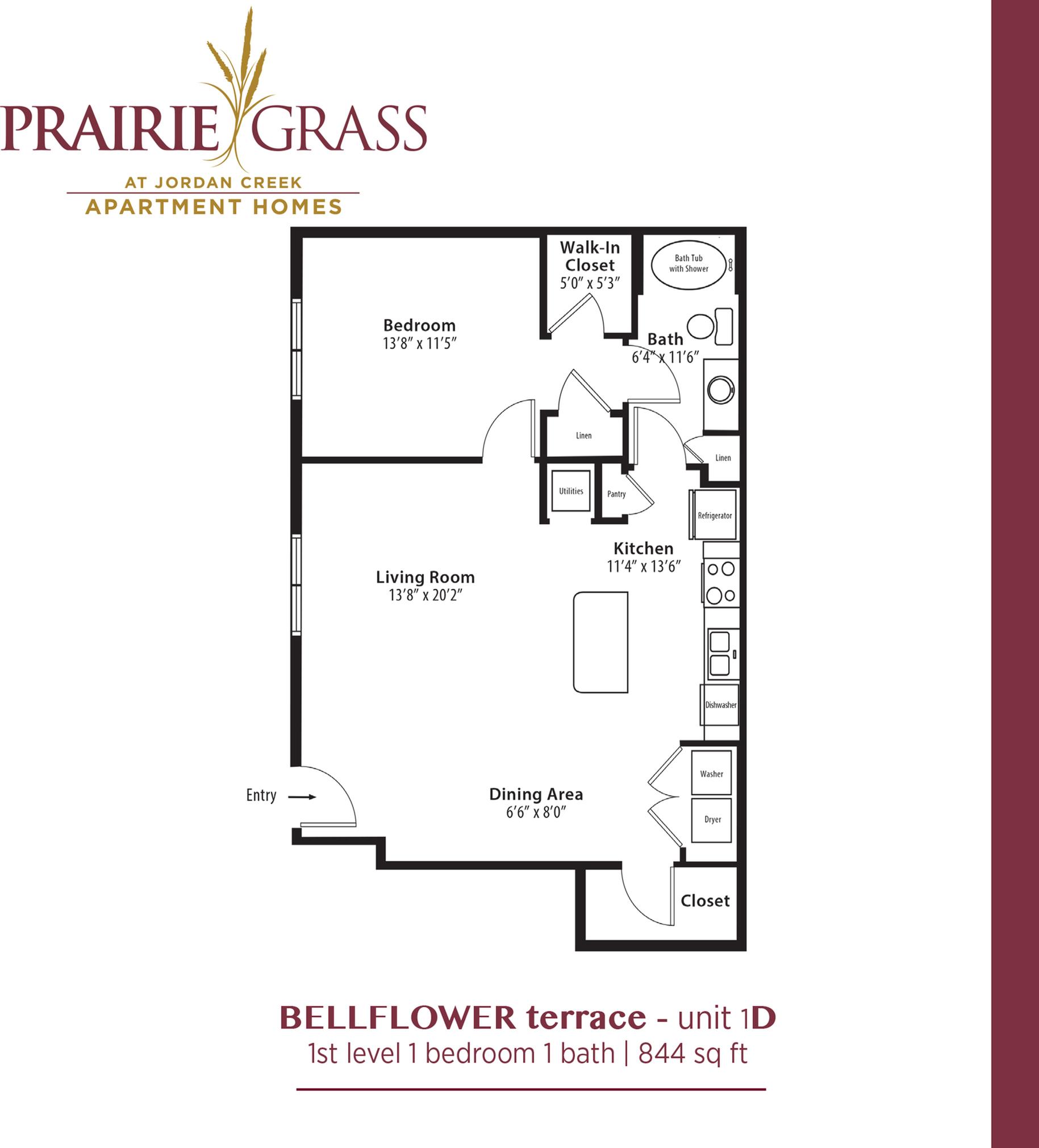 Bellflower Terrace - Lower 1 Bed