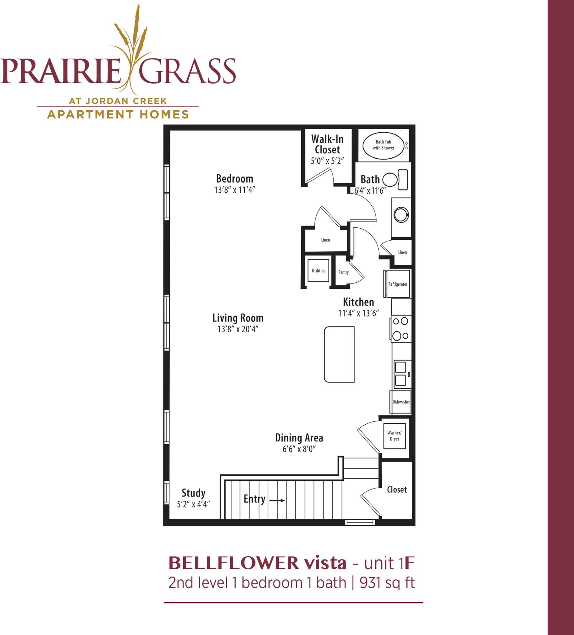 Bellflower Vista - Upper 1 Bedroom