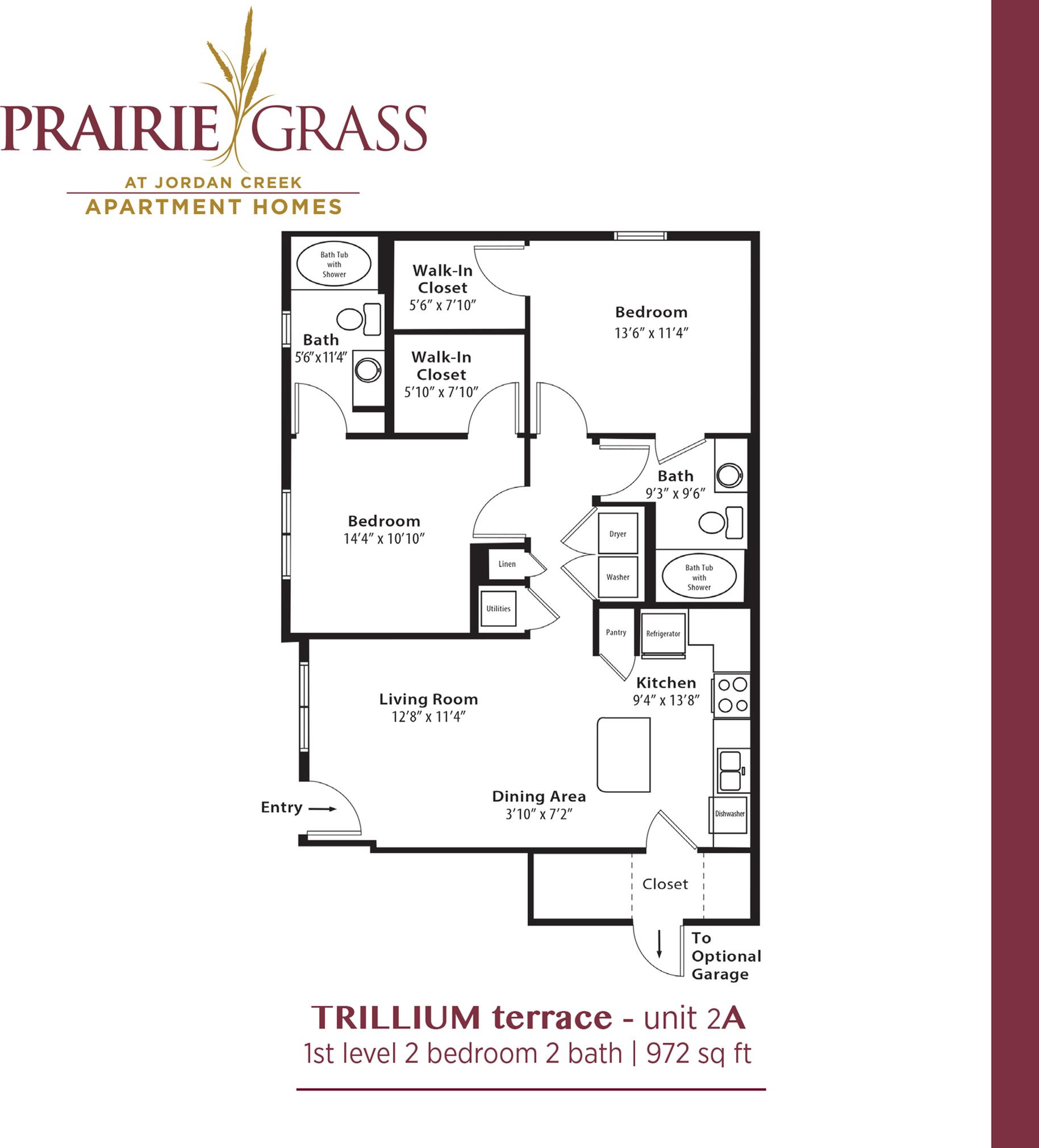 Trillium Terrace - Lower 2 Bedroom