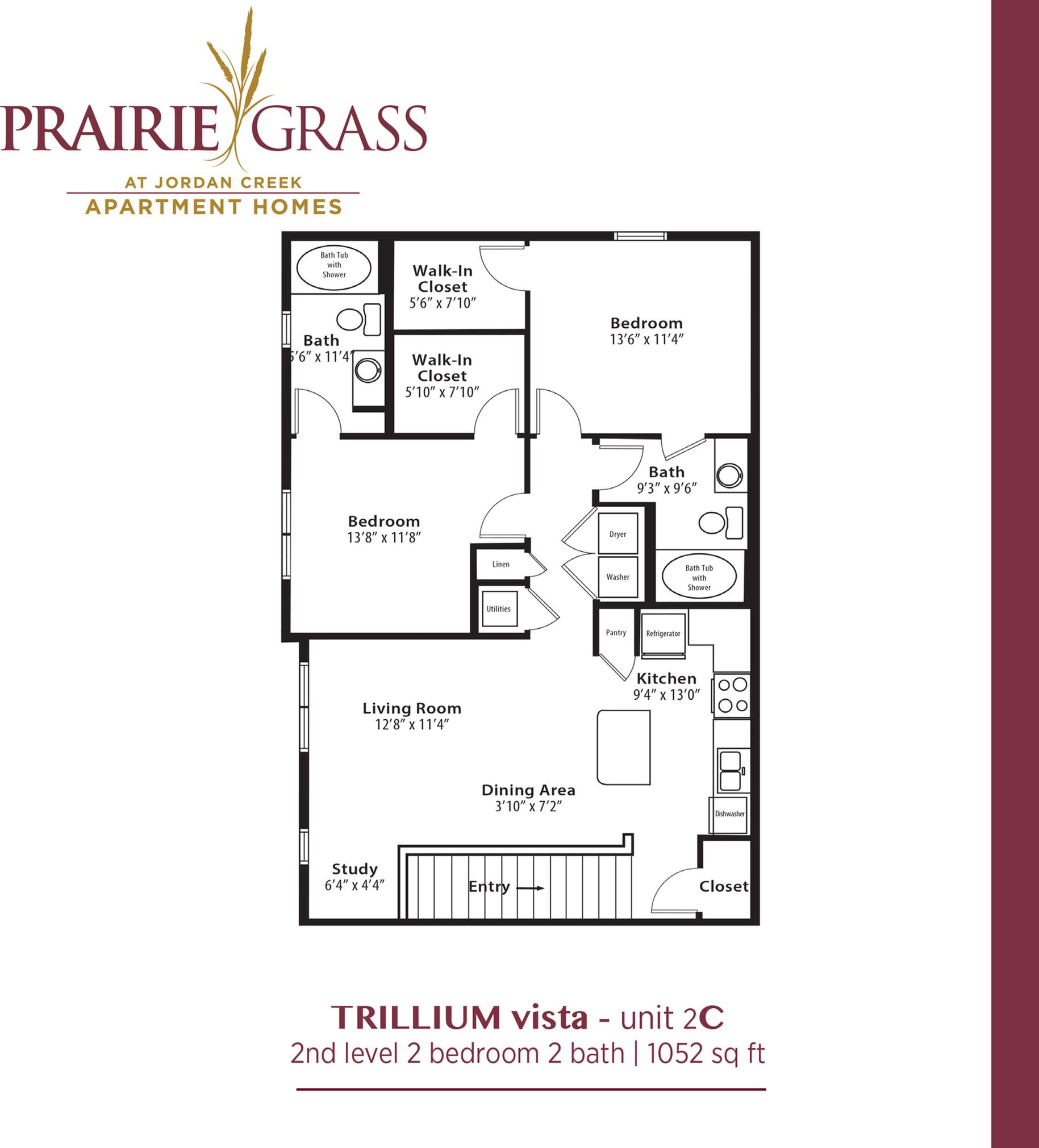 Trillium Vista - Upper 2 Bedroom