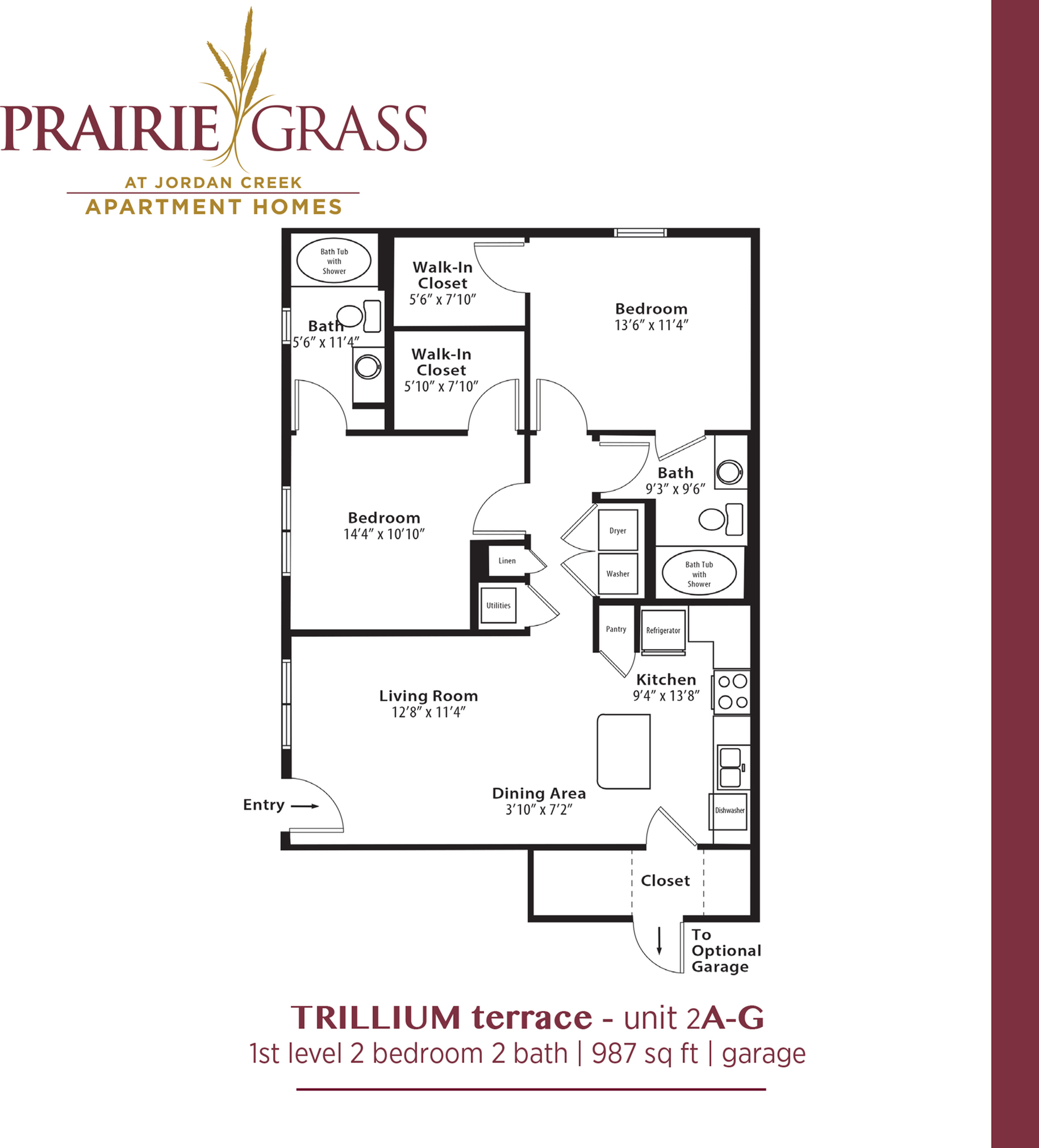 Trillium Terrace - Lower 2 Bedroom with Attached Garage