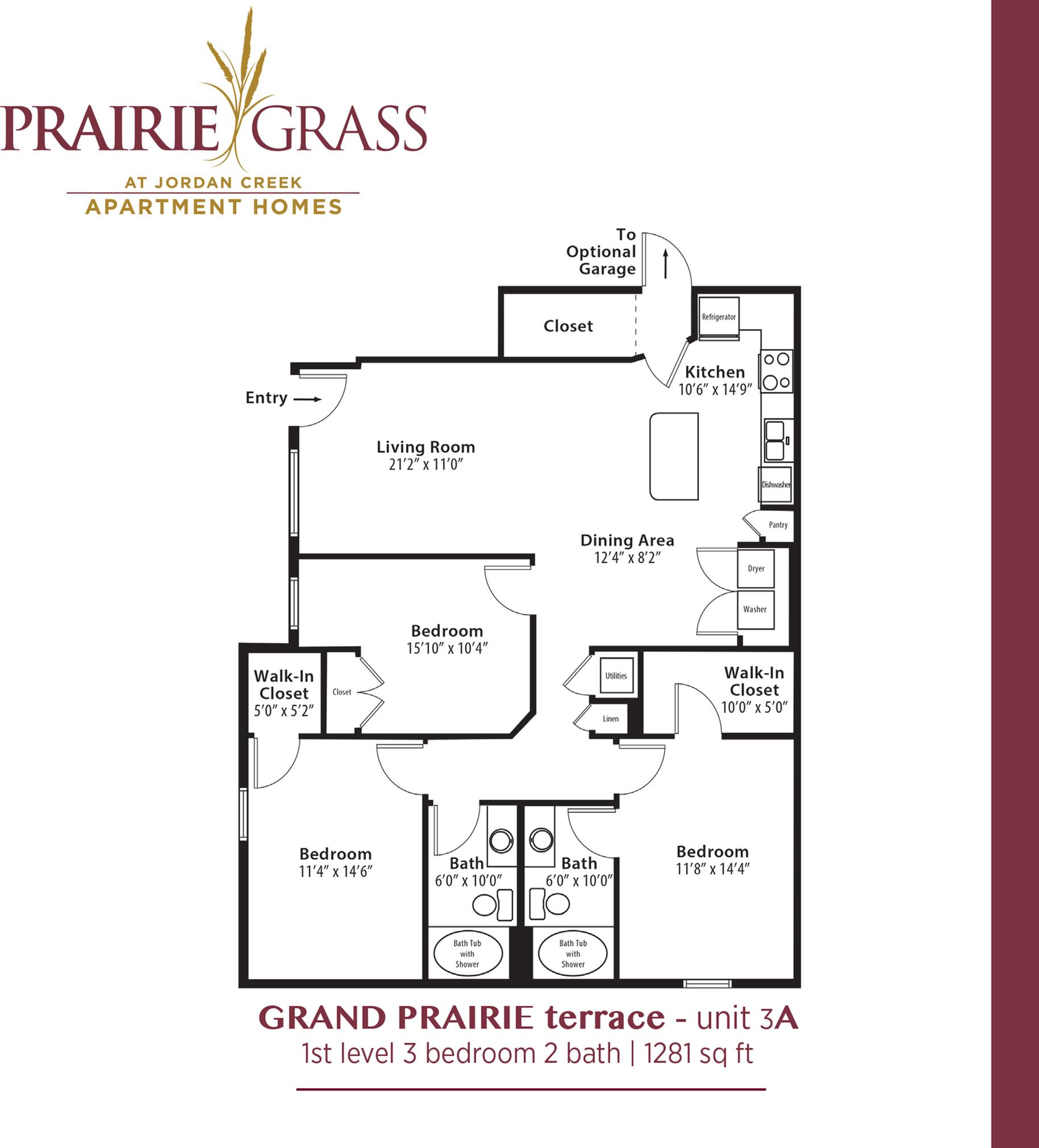 GrandPrairie Terrace - Lower 3 Bedroom