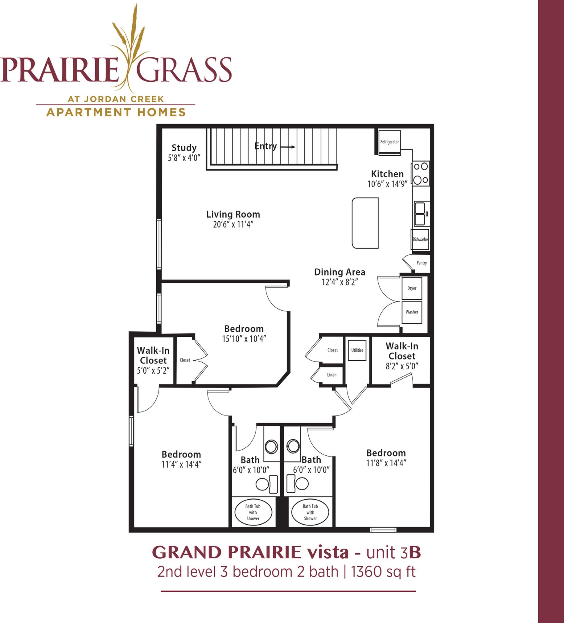 GrandPrairie Vista - Upper 3 Bedroom