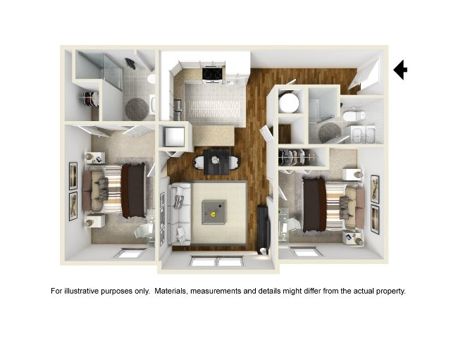 Abbotts Run Apartments - Carolina Floor Plan