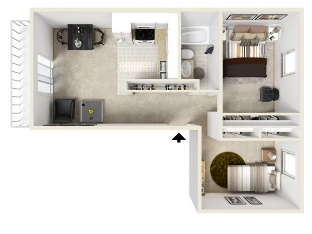 Floor Plan 8 | Coach House Apartments