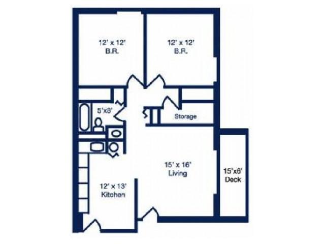 Two Bedroom Floorplan | Summit Terrace