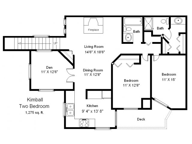 2 bed 2 bath apartment in bloomington mn bristol for Minnesota lake home floor plans