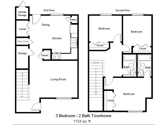 3 bed 2 bath apartment in rockport tx sea mist for 3 bedroom townhouse plans
