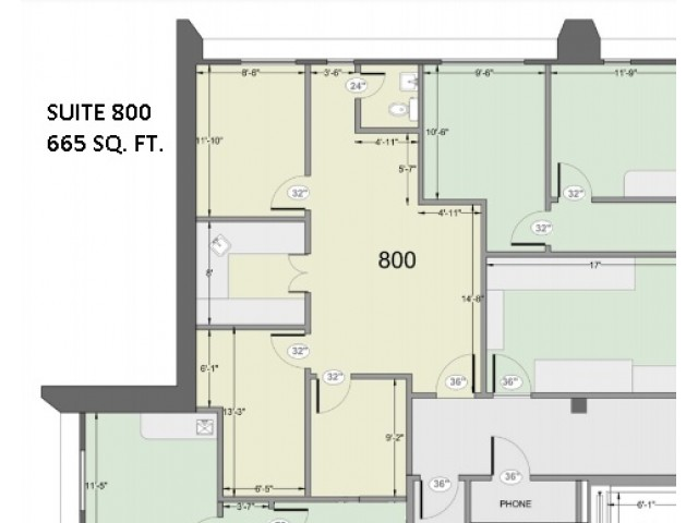 665 Square Feet Office Available for Rent