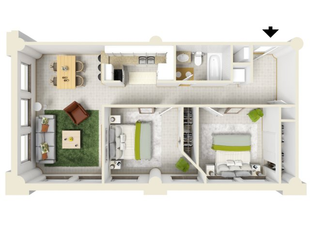 2 bed 2 bath apartment in new orleans la woodward