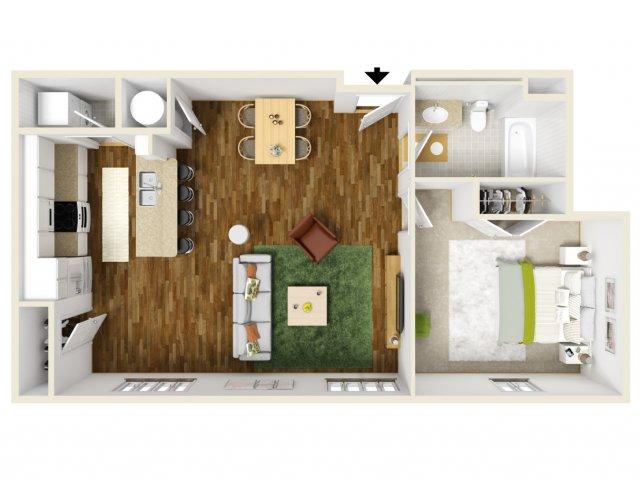 1 bed 1 bath apartment in new orleans la bienville basin
