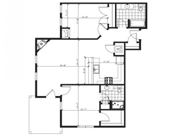 Lofted 2 Bed 2 Bath - E