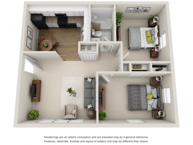 Floor Plan 5   Apartments in Mt Prospect Il   The Residences at 1550
