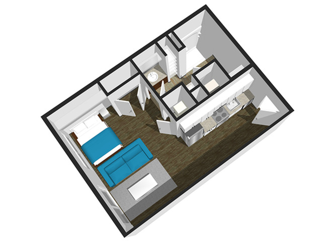 SoEL District Lofts - Floor Plan B Studio