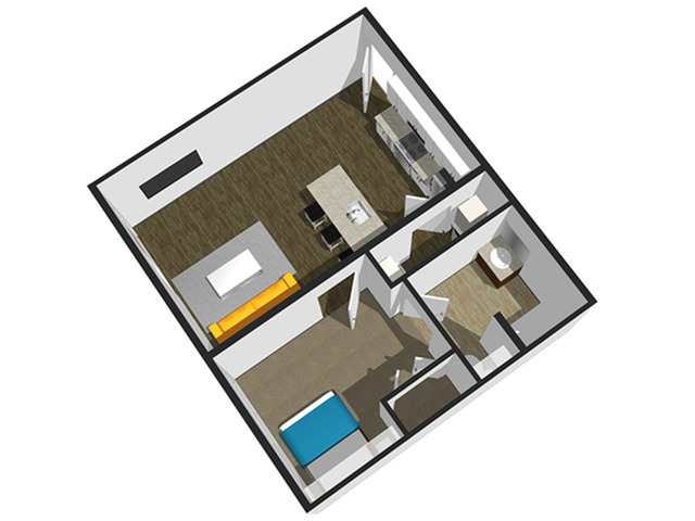 SoEL District Lofts - Floor Plan M 1BR/1BA