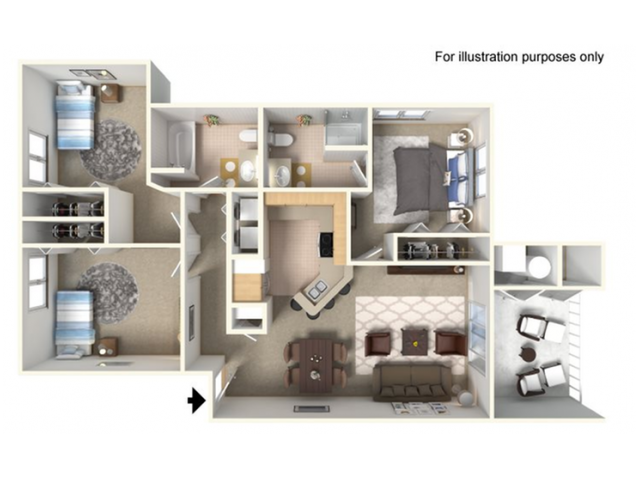 1, 2 & 3 Bed Apartments | Clearview Apartments