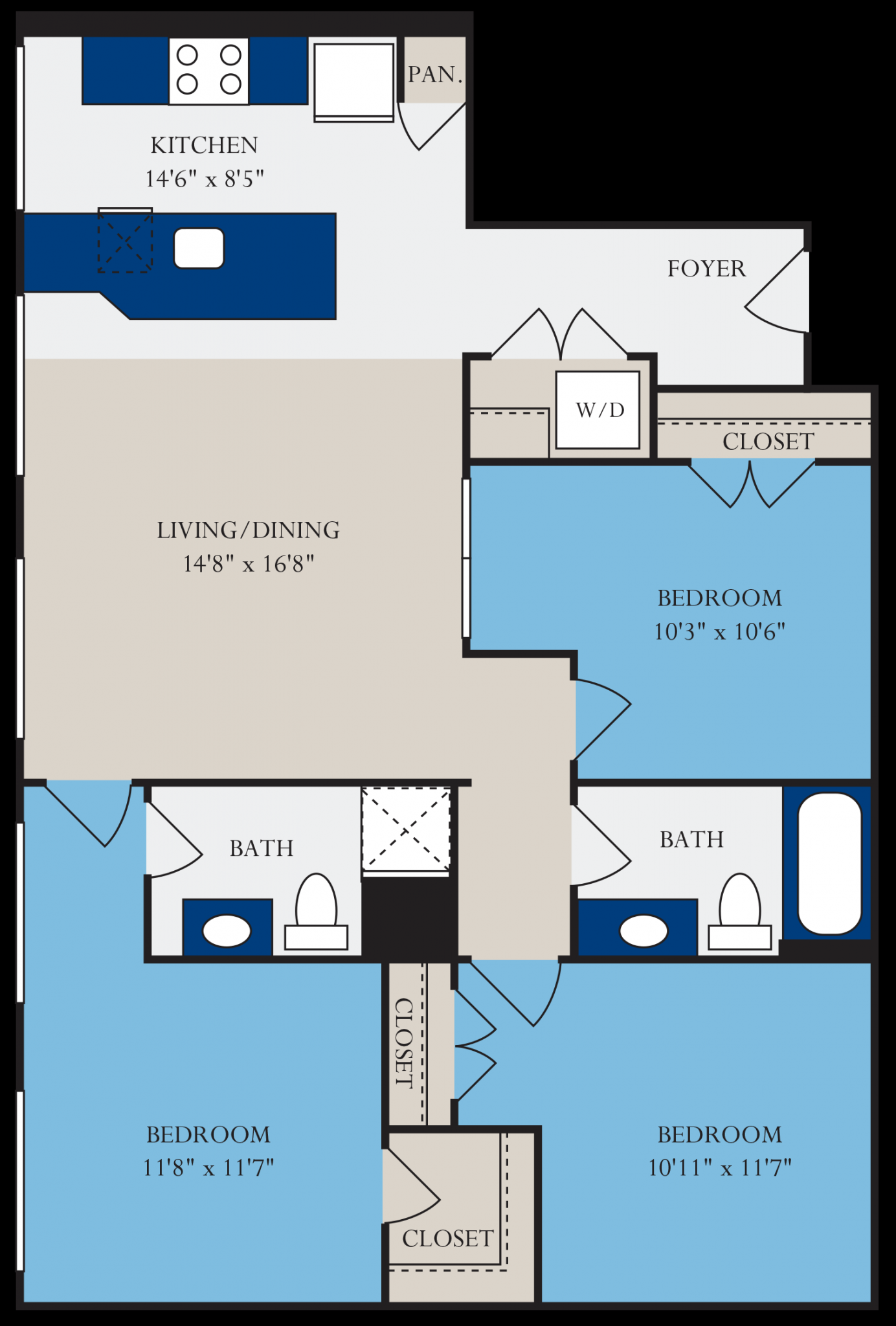 1 - 3 Bedroom Apartments - Spartanburg | Drayton Mills Lofts