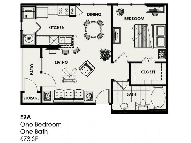 E2A | 673 sq ft