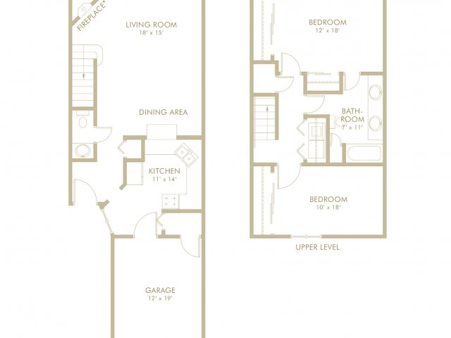 2 bed 1 5 bath in white bear lake mn birch lake townhomes for Minnesota lake home floor plans
