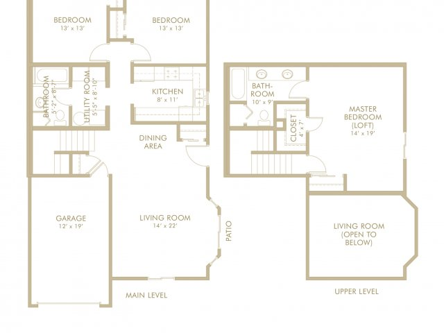 3 bed 2 bath in white bear lake mn birch lake townhomes for Minnesota lake home floor plans