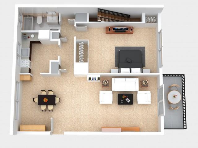 One & Two Bedroom Apartment Floor Plans - Overlook at Flanders