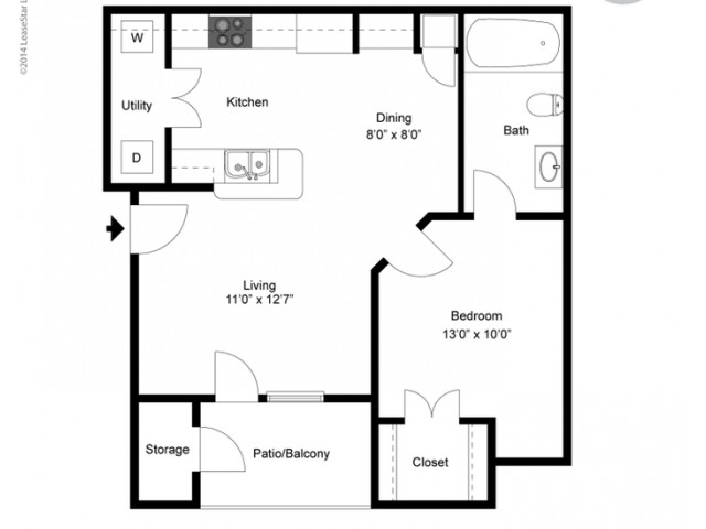 FLoor PLan 1 | Ladson Apartments | Cypress River
