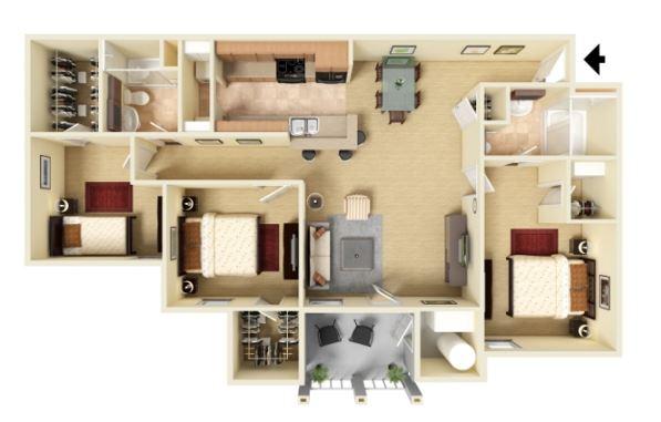3 Bed 2 Bath - Phase I