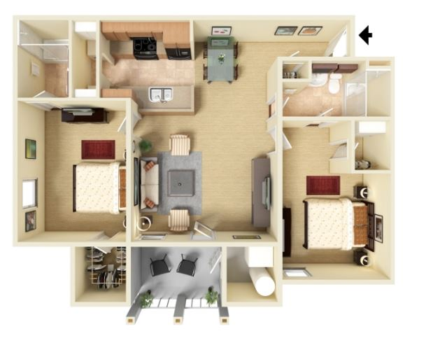 2 Bed 2 Bath - Phase II