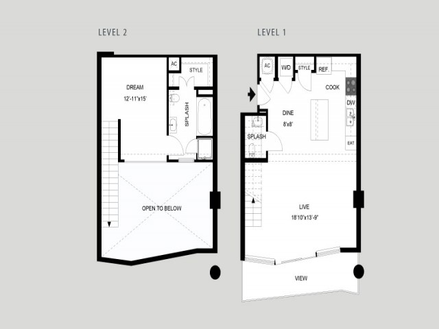 The Colorado - Loft   1 bed 2 bath   from 992 square feet