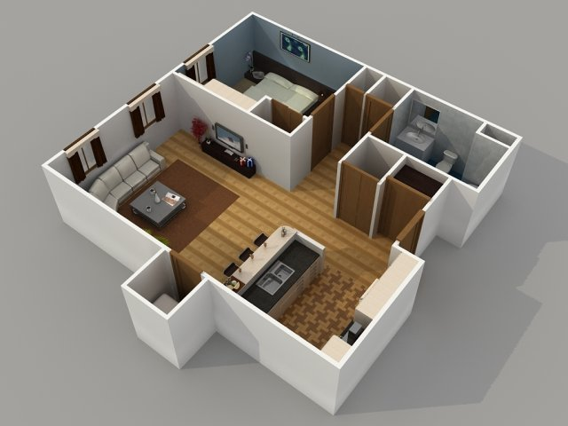 1 Bedroom 5 Bath Apartment Best Ideas 2017