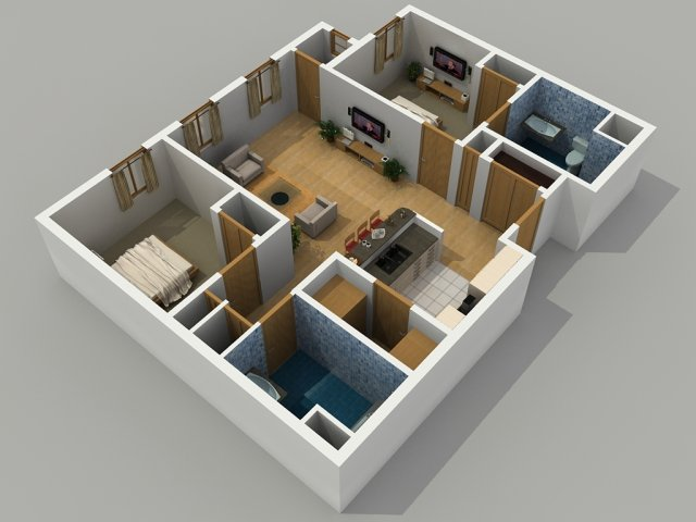 3 bedroom 2 bath house plans 3d. for the 2 bedroom bathroom floor plan 3 bath house plans 3d d