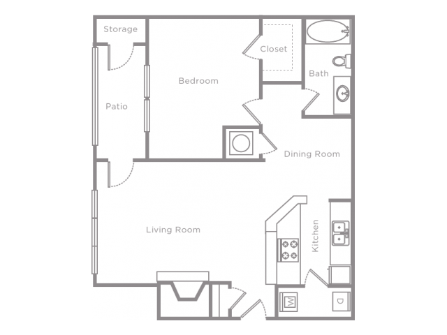 1 Bedroom 1 Bathroom Apartment Home