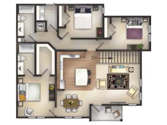 C3 - 3 Bedroom 2 Bath