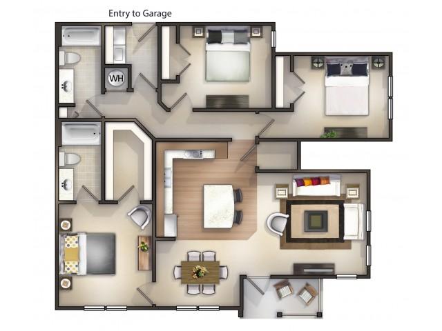 C1 - 3 Bedroom 2 Bath