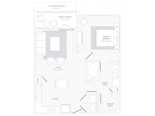 Accent 1 Bed 1 Bath