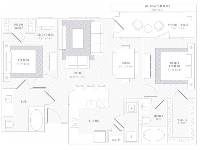 Rhythm 2 Bedroom 2Bathroom