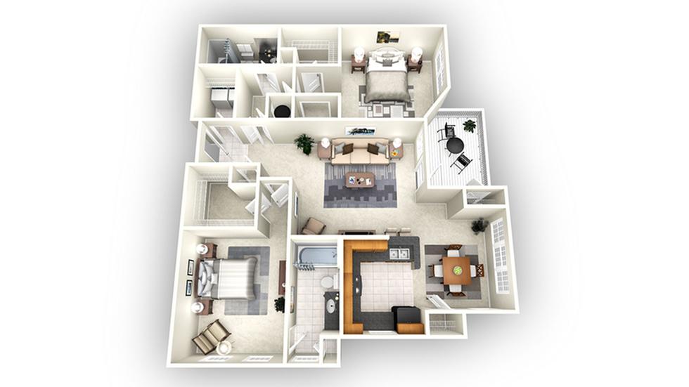 Amsterdam floor plan | Apartments In Savannah GA | Olympus Fenwick