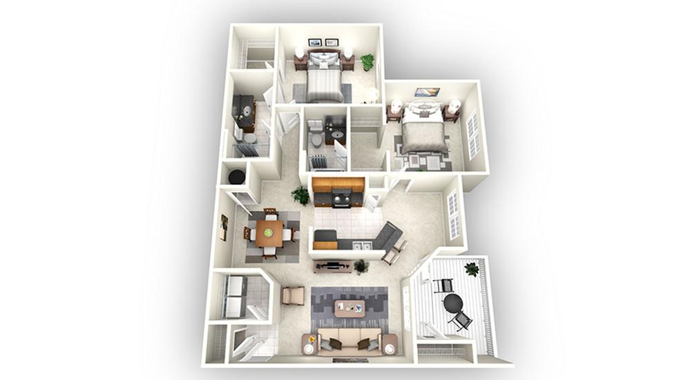 Athens floor plan | Apartments In Savannah GA | Olympus Fenwick